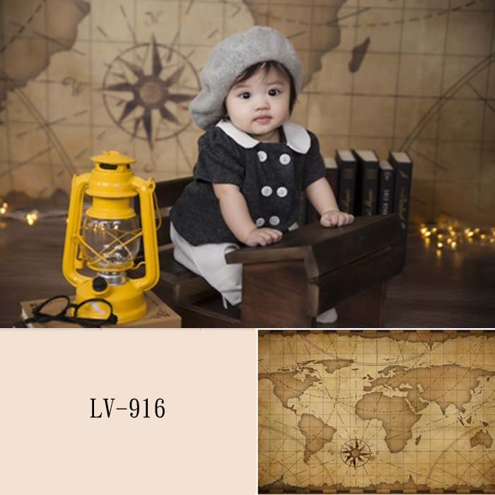 Retro Map Photo Backdrop Abstract for Photography LV-916