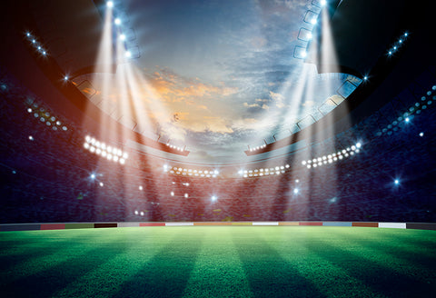 Night Football Field Spotlights s Sports Photo  Booth Backdrop M063