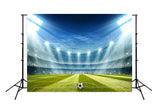 Football Field Spotlights Night Sports Photo Photography Backdrop M091