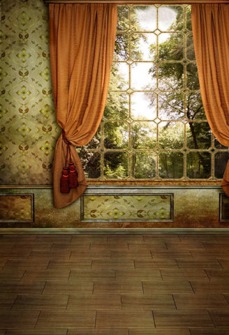 Curtain Window Classic Room Interior Photo Studio Backdrop MR-2179