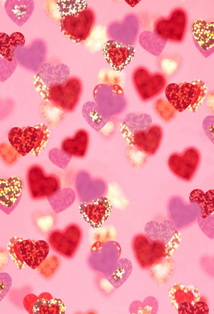 Romantic Valentine's Day Pink Backdrop for Photography MR-2181