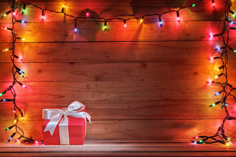 Colorful Lights Gifts Wood Texture Photography Backdrop  MR-2219