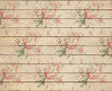 Retro Floral Backdrop Wood Backdrop for Photography NB-004