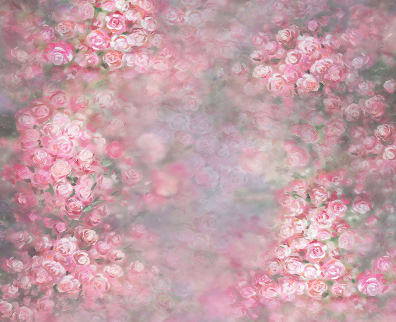 Pink Roses Background Floral Backdrop for Photography NB-027