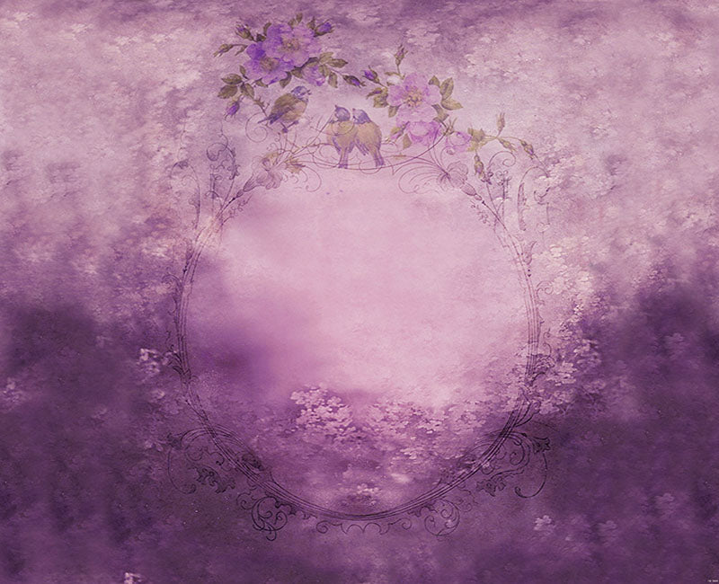 Floral Backdrop Dreamy Purple Backdrop for Photography NB-030