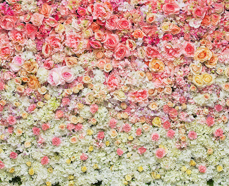 Colorful 3D Flower Wall Backdrops for Party Photography Backdrop NB-038