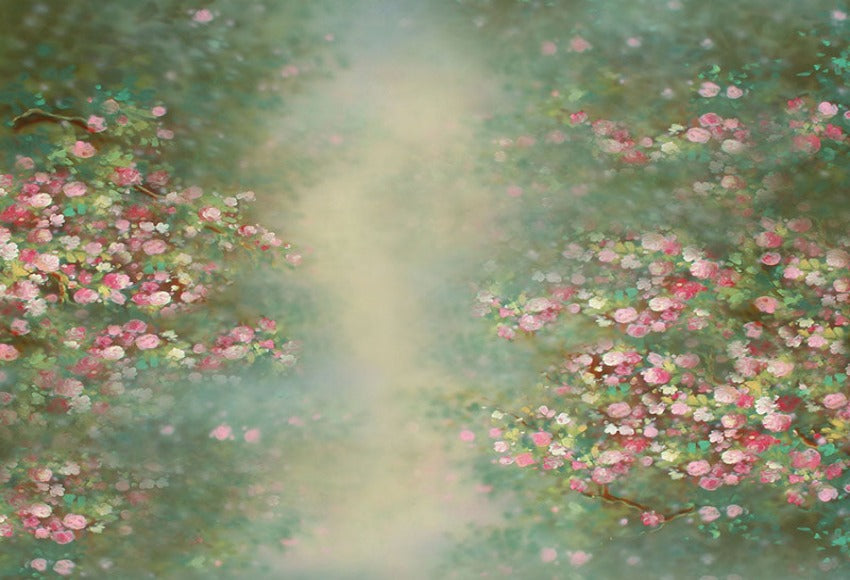 Abstract Spring Flowers Beautiful Painting Backdrop for Photo NB-043