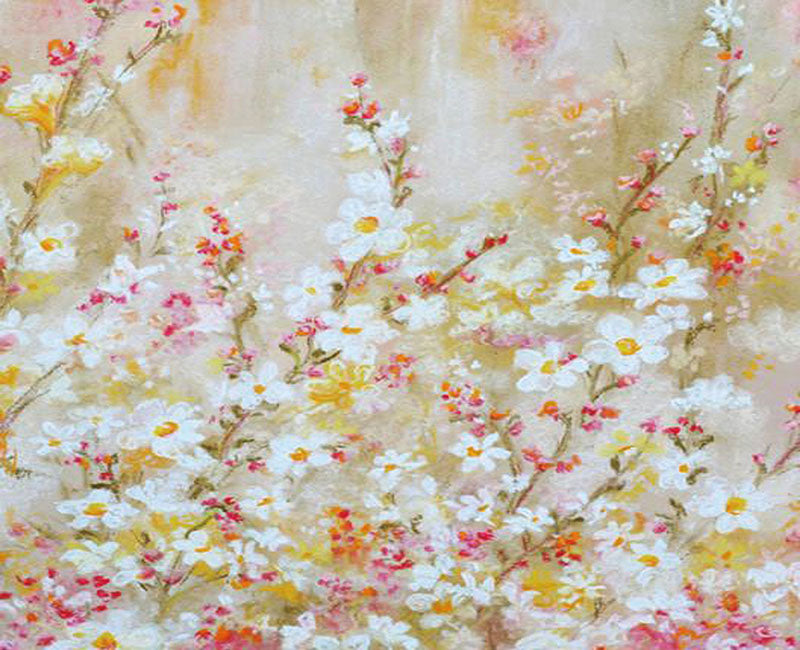 Oil Paint Floral Artistic Photography Backdrop for Studio NB-094