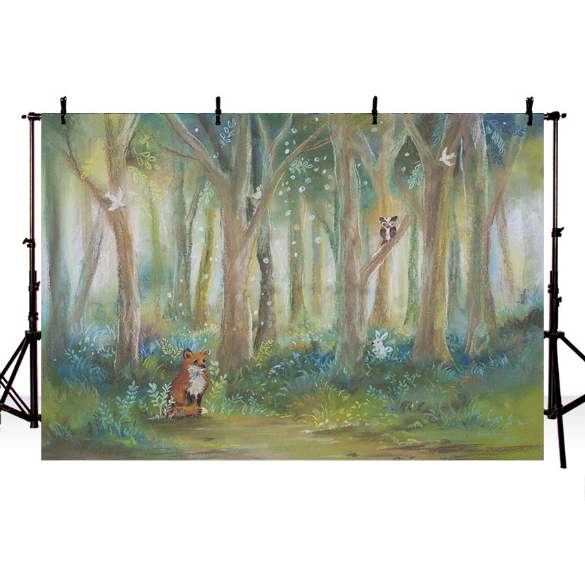 Jungle Forest Newborn Backdrop for Photography NB-200