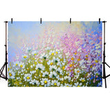 Floral Backdrop Painting Art Newborn Baby  Photography background NB-321