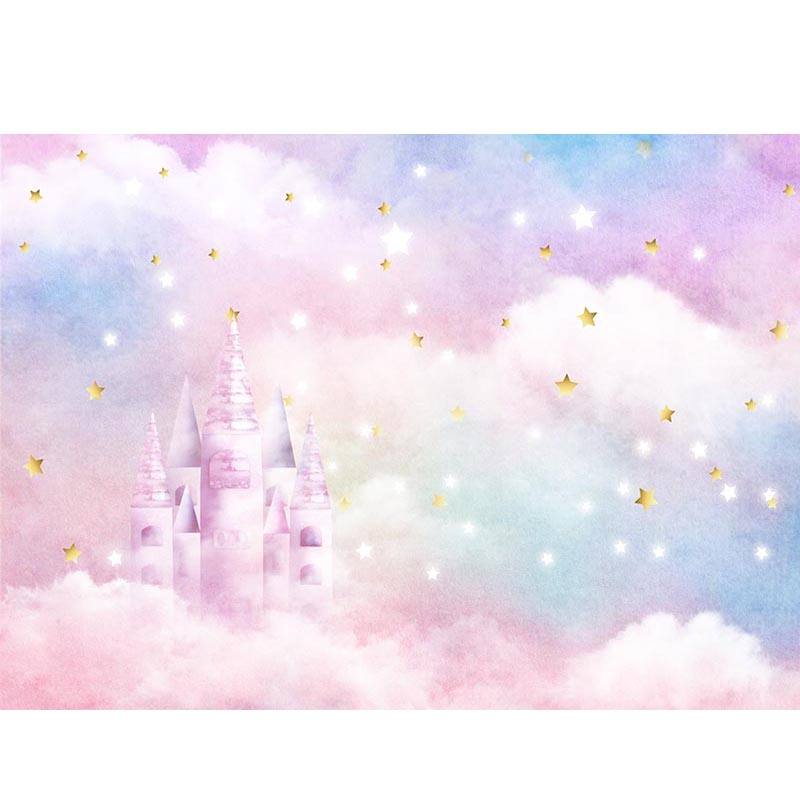 Dream Pink Castle Background for Baby Photography NB-408