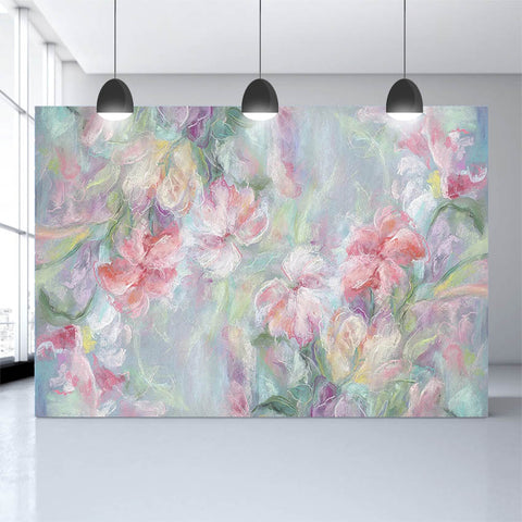Artistic Oil Painting Flowers Photography Backdrop for Photo Booth NB-494