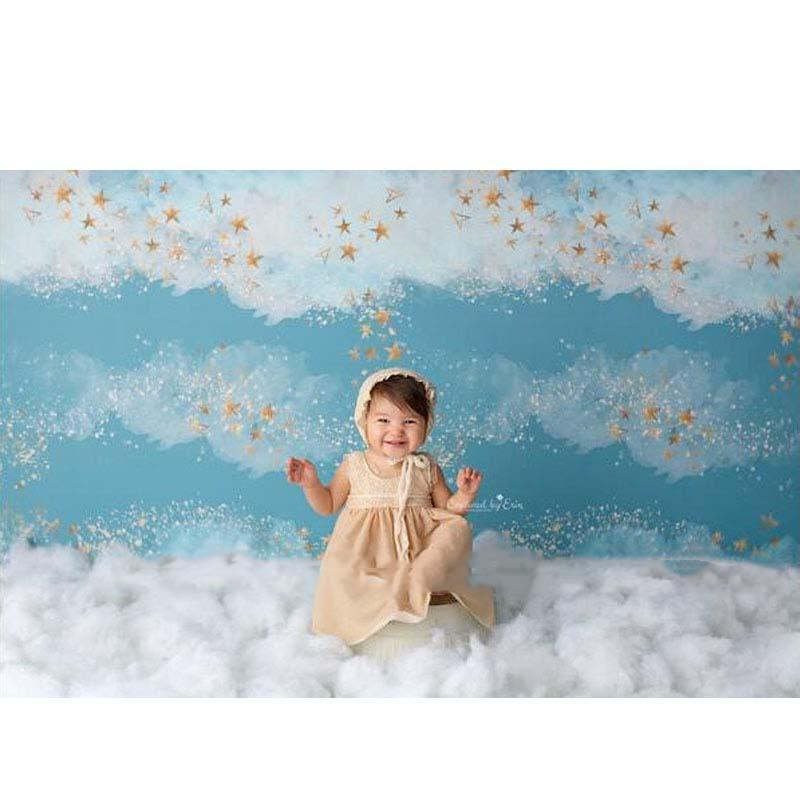 Stars White Clouds Child Backdrop for Photography NN-1