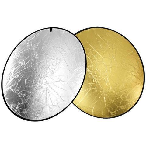 Light Reflector 2-in-1 Gold Sliver 43 Inch/110cm  Round Collapsible Multi Disc with Carrying Case for Studio