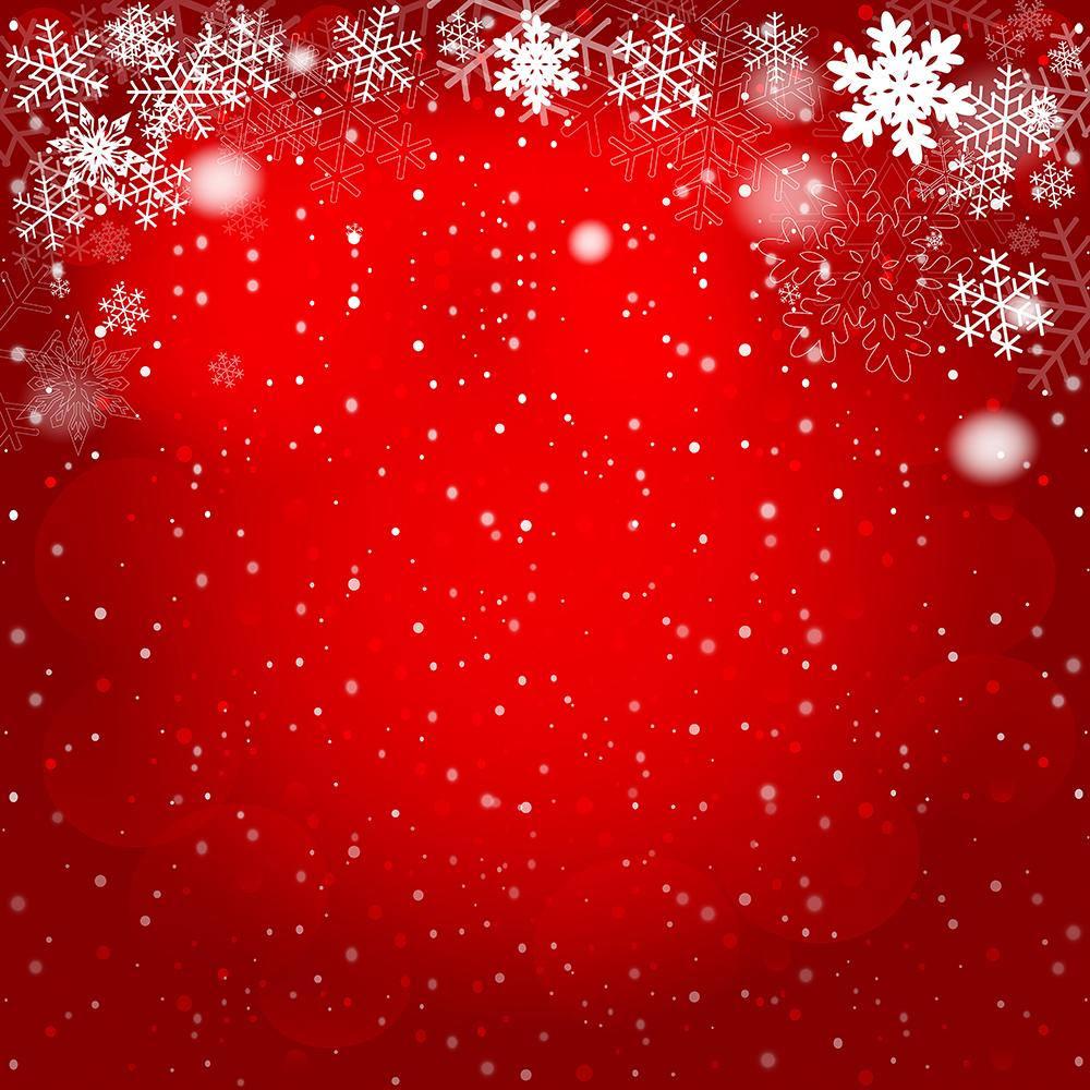Red Bokeh Snowflakes Background Christmas Backdrops IBD-19251
