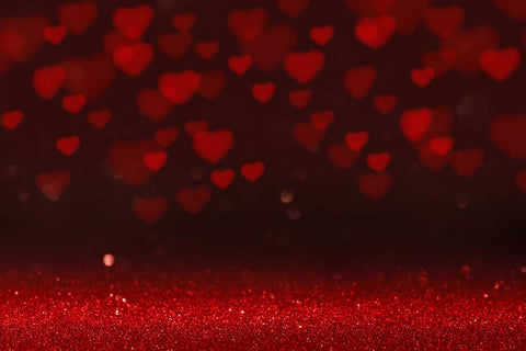 Valentine's Day Red Love Heart Photo Backdrops DBD-19270