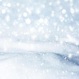 Bokeh Snow Winter Wonderland Photo Backdrops S-2903