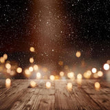 Bokeh Night Sky Wood Floor Photo Backdrop S-2925