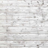 White Wood Wall Photo Booth Backdrops  S-2933