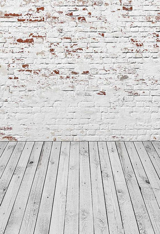 Brick Wall Backdrop White Backdrop Grung Background White Wall S-2968