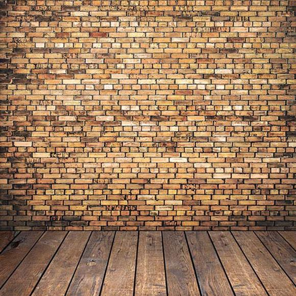 Old Brown Brick Wall Backdrops Photography Backgrounds  S-2969