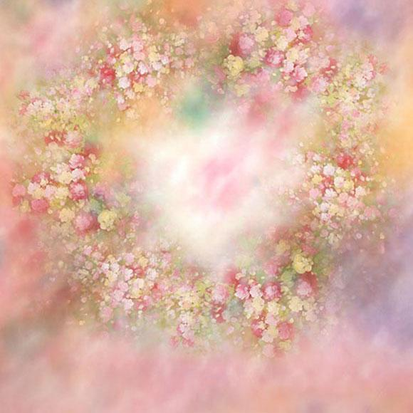 Fantasy Flower Love Backdrop for Photography  S-2975