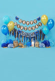 Birthday Party Background Balloons Backdrop Blue Backdrops S-3091