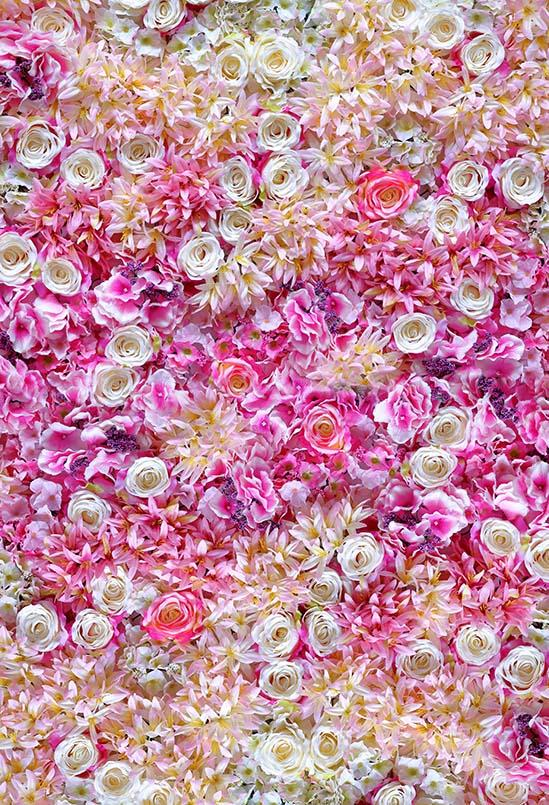 Flower Wall Backdrops Floral Backdrops Pink Background S-3170