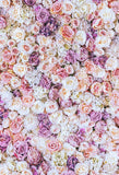 Flowers Backdrops Floral Background Flower Wall Backdrop Wood Floor S-3173