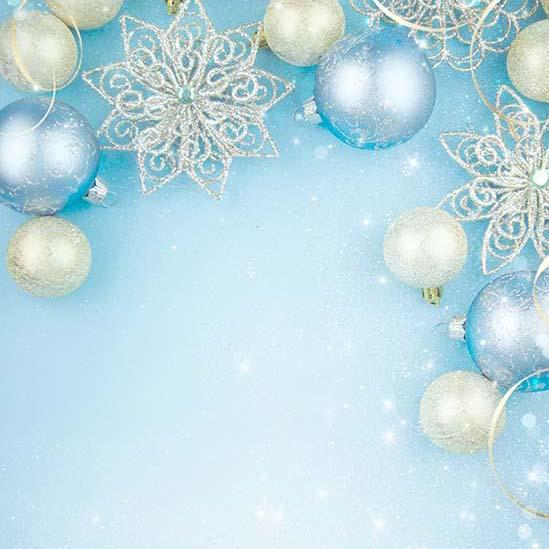 Blue Christmas Backdrops for Photo Shoot  S-3179