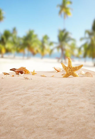 Beach Starfish Summer Holiday Photo Backdrop S-3207
