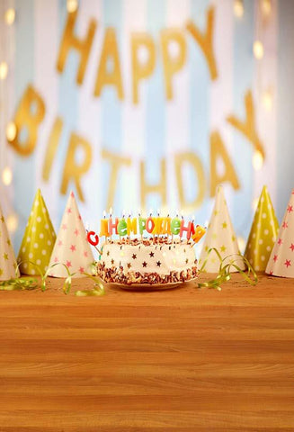 Birthday Background Paper Backdrop Cake Backdrop S-3226