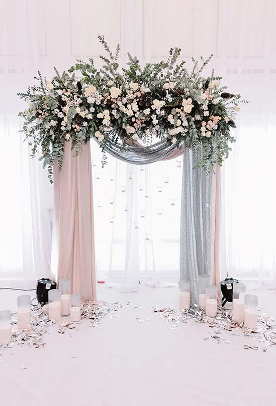 Wedding Backdrops Flowers Backdrops Pink Backgrounds S-3230