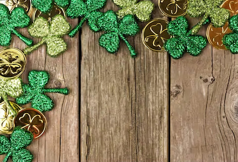St. Patrick's Day Wood Photo Studio Backdrop SH160