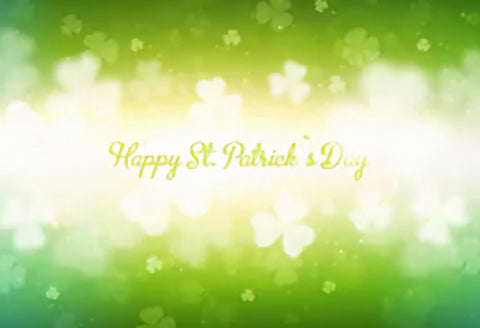 Happy St. Patrick's Day Green Bokeh Photo Studio Backdrop SH161