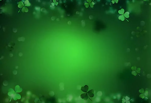 Green Happy St. Patrick's Day Photo Backdrop SH162