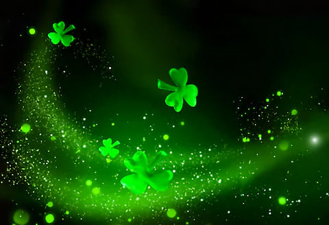 Happy St. Patrick's Day Green Luck  Backdrop for Photo Booth SH166