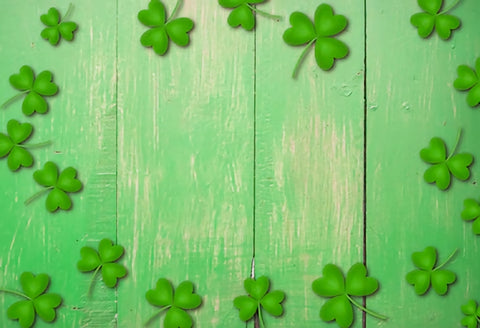St. Patrick's Day Green Wood Floor Backdrop for Photo Shoot SH190