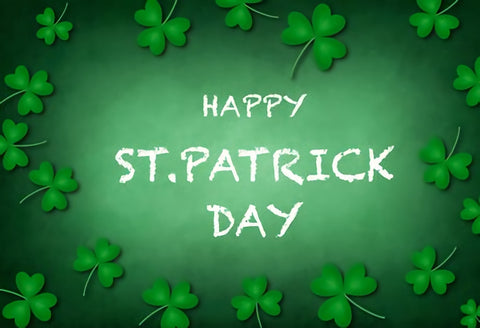 Happy St. Patrick's Day Green Spring Backdrop for Photo Studio SH191