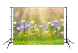 Spring Natural Scenic Easter Flowers Photography Backdrop SH202
