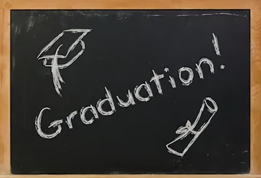 Graduation Banner Chalkboard Photography Backdrop SH-249