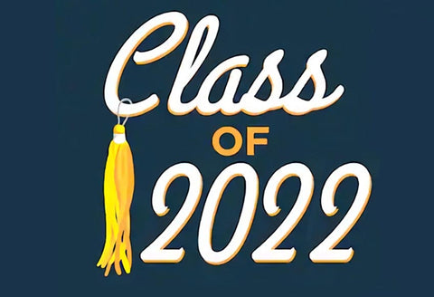 Class of 2020 Graduation Blue Background Photo Booth Backdrop SH-262