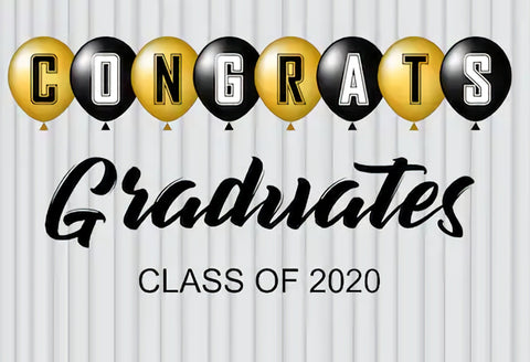 Graduation Backdrop Congrats Grad Class of 2020 Photo Backdrop SH-269