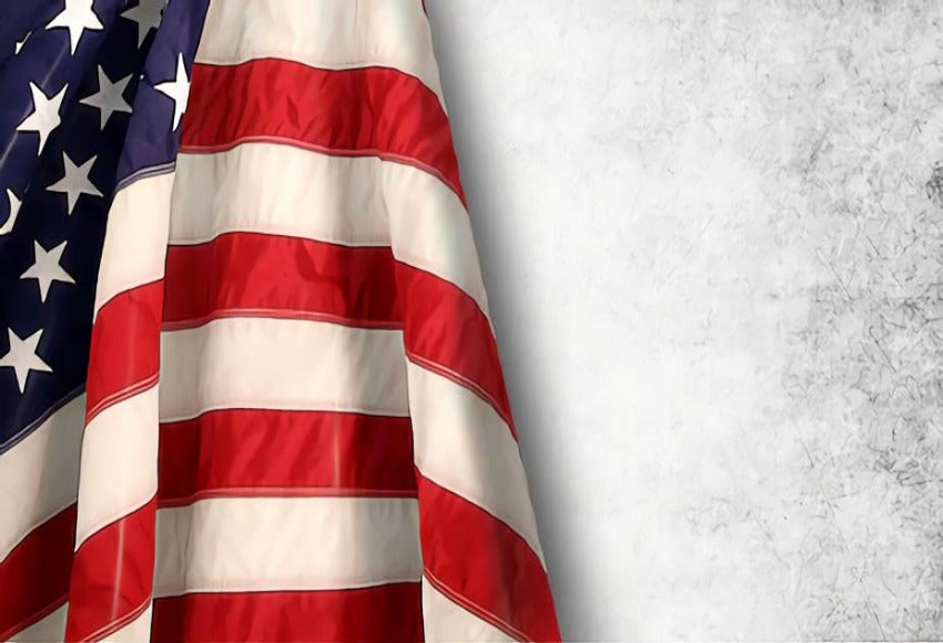American Flag Independence Day 4th of July Photo Backdrop SH280