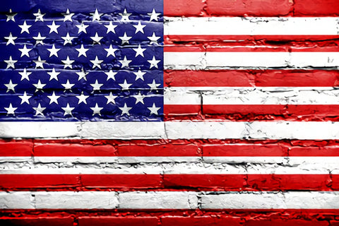 USA Flag Independence Day Grattifi Wall Photo Studio Backdrop SH283