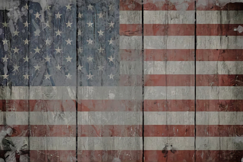 Independence Day USA Flag Wood Texture Backdrop SH297