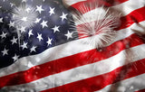 American Flag Patrotic July 4 Backdrop for Photography SH301