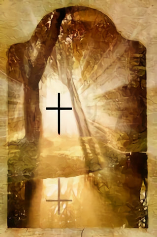 Christian Cross Forestlake Religious Photography Backdrop SH319