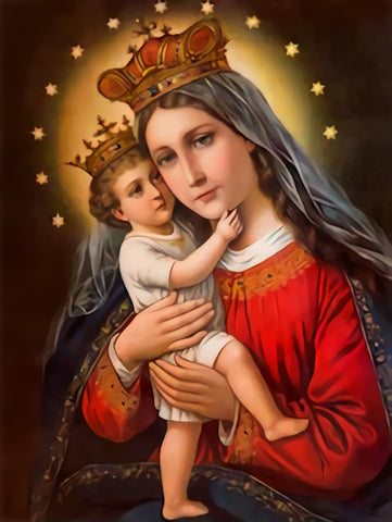 Typical Catholic Madonna with the child Backdrop for Photo Studio SH357