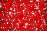 Red Background Stars  Backdrop for Valentine SH530